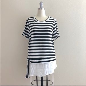 Le Lis Striped Side Tie Tee